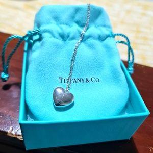 Tiffany & Co. SS heart locket necklace